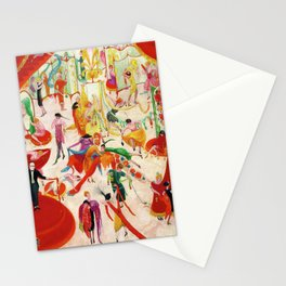 'Spring Sale Soireé at Bendels' Jazz Age New York City Portrait by Florine Stettheimer Stationery Cards