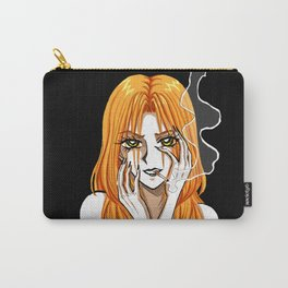 Claudia smoking - Girl with a cigarette Carry-All Pouch