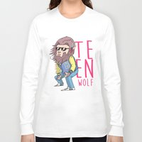 teen wolf Long Sleeve T-shirts featuring Teen wolf by Jomp