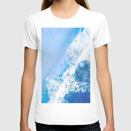 Little Blue Waves | Aerial Beach T-shirt