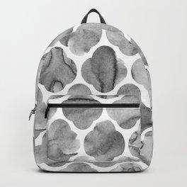 Black and White Tile Print Backpack