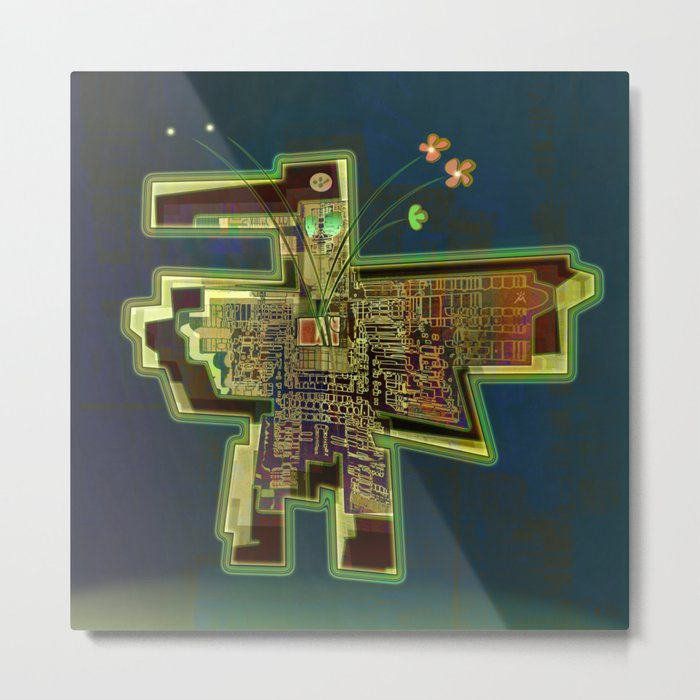 Good Vibes from the Robotic City Lab Metal Print