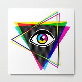 Pyramid with eye Metal Print