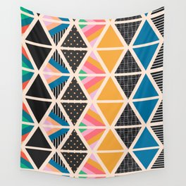 Triangle collage Wall Tapestry