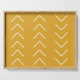 V / Yellow Serving Tray