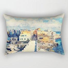 Trapani art 18 Sicily Rectangular Pillow