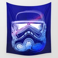 storm trooper Wall Tapestries featuring Pop Trooper by Scar Design