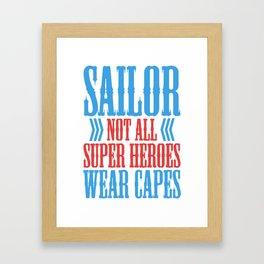 sailor gift sailing ship sailor Ahoi Seefahrt Framed Art Print
