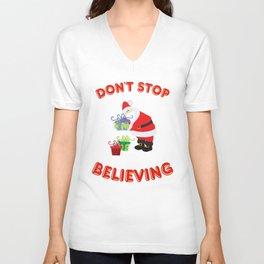 Don't Stop Believing Unisex V-Neck