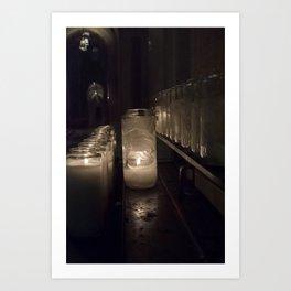 Light a candle, Say a prayer. Art Print
