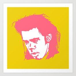 Sad Nick Cave #2 Art Print