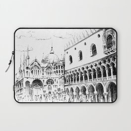 Sketch of San Marco Square in Venice Laptop Sleeve