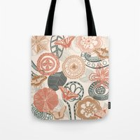 doodle Tote Bags featuring doodle  by Ancello