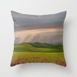 Rain Brings Life Throw Pillow