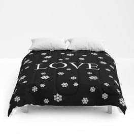 Winter Love - black Comforters