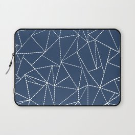 Ab Dotted Lines Navy Laptop Sleeve