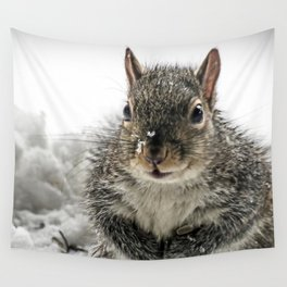 Adorable Praying Squirrel..Feed ME!! Wall Tapestry