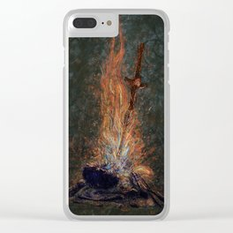 Bonfire of Souls Clear iPhone Case