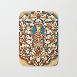 Voodoo Skull Flower Airbrush Bath Mat