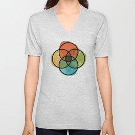 Ikigai Watercolor Unisex V-Neck