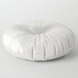 Relief [1]: an abstract, textured piece in white by Alyssa Hamilton Art Floor Pillow