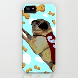 Super Pug Saves All iPhone Case