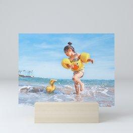 Ducks on the Beach Mini Art Print