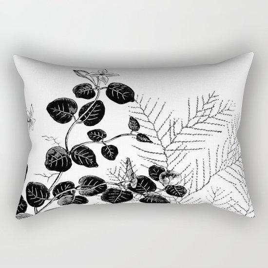 Minimal Spring design Rectangular Pillow