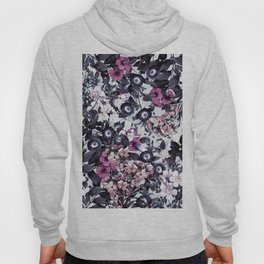 Bohemian Floral Nights Pink and Gray Hoody