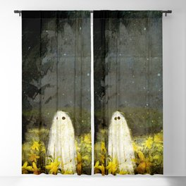 Creepy Painting Blackout Curtain