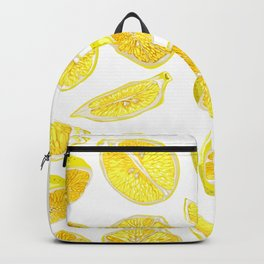 Fresh Lemon Fruit Slices Backpack