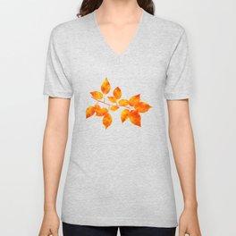 Orange Leaf Art Unisex V-Neck