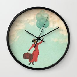 Mary, the secret behind the umbrella Wall Clock