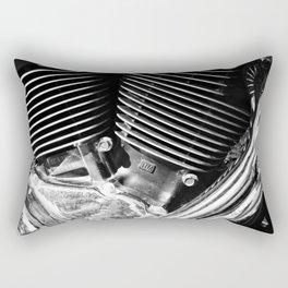Motorcycle Engine Detail Rectangular Pillow