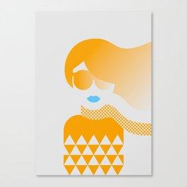 I Like Patterns on a Windy Day (orange) Canvas Print