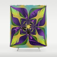60s Shower Curtains featuring 60s Reunion by Jim Pavelle