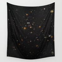 comic Wall Tapestries featuring THE UNIVERSE - Space | Time | Stars | Galaxies | Science | Planets | Past | Love | Design by Mike Gottschalk