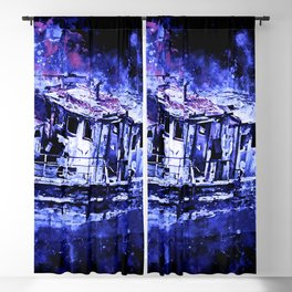 old ship boat wreck ws db Blackout Curtain