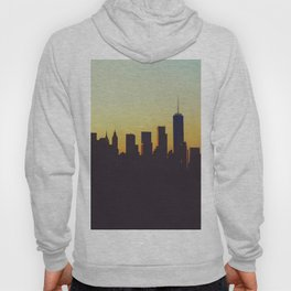 Sunrise in New York City Silhouette (Color) Hoody