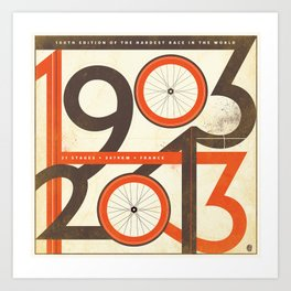 100 Years of The Tour de France Art Print