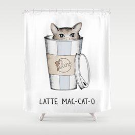 Latte Mac-cat-o Shower Curtain