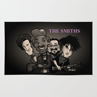 smiths Area & Throw Rugs featuring The Smiths (black version) by BinaryGod.com