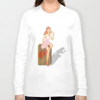 eugenia loli Long Sleeve T-shirts featuring Pin up Loli by PristinM