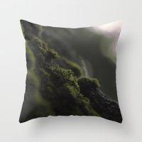moss Throw Pillows featuring MOSS by Erin Graboski