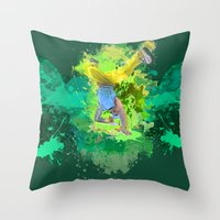 hiphop Throw Pillows featuring HipHop Forever by Frauste