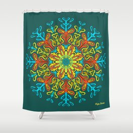 Gracias a la Vida (Turquoise Dark) Shower Curtain