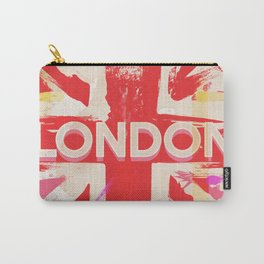 Vintage Pink London Poster Carry-All Pouch