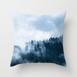 The Fog In The Trees Throw Pillow