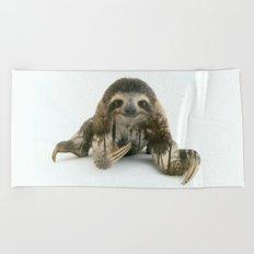 Arctic Sloth Beach Towel