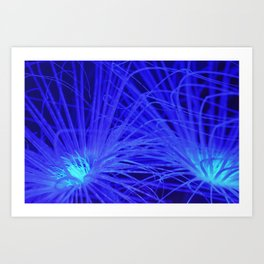 Neon Anemone Art Print